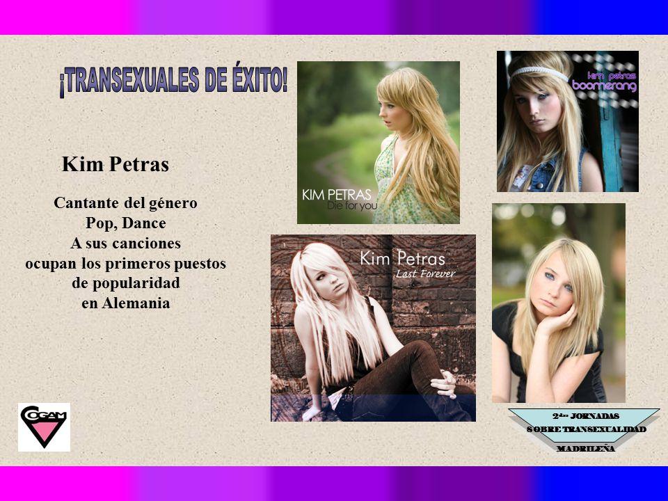 2 das JORNADAS SOBRE TRANSEXUALIDAD MADRILEÑA Kim Petras Cantante del género Pop, Dance A sus canciones ocupan los primeros puestos de popularidad en Alemania