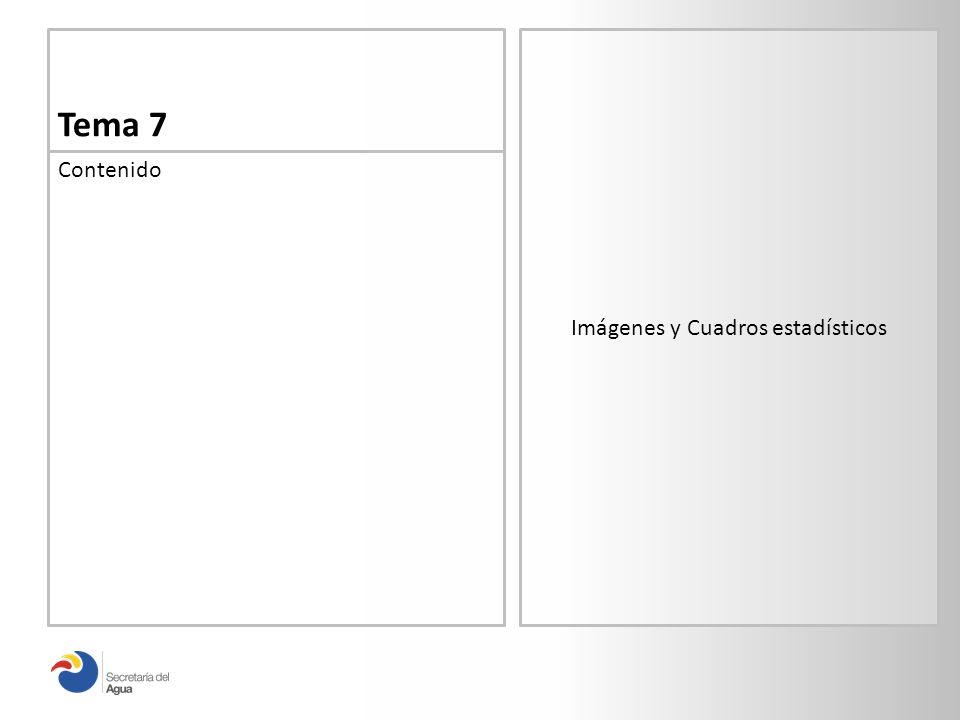 Tema 7 Contenido Imágenes y Cuadros estadísticos