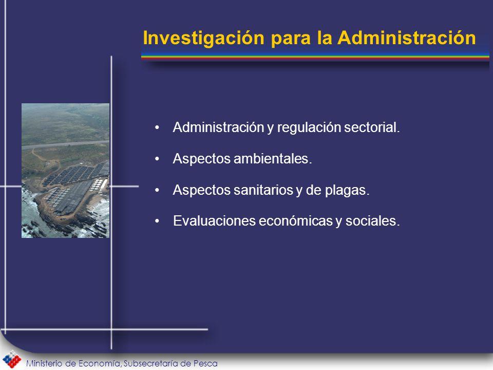 Ministerio de Economía, Subsecretaría de Pesca Administración y regulación sectorial.