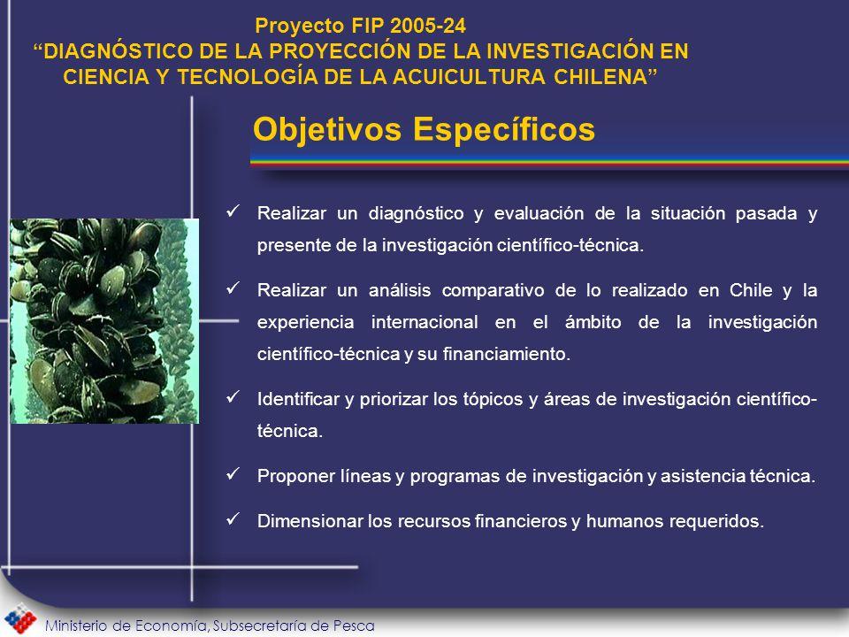 Ministerio de Economía, Subsecretaría de Pesca Realizar un diagnóstico y evaluación de la situación pasada y presente de la investigación científico-técnica.
