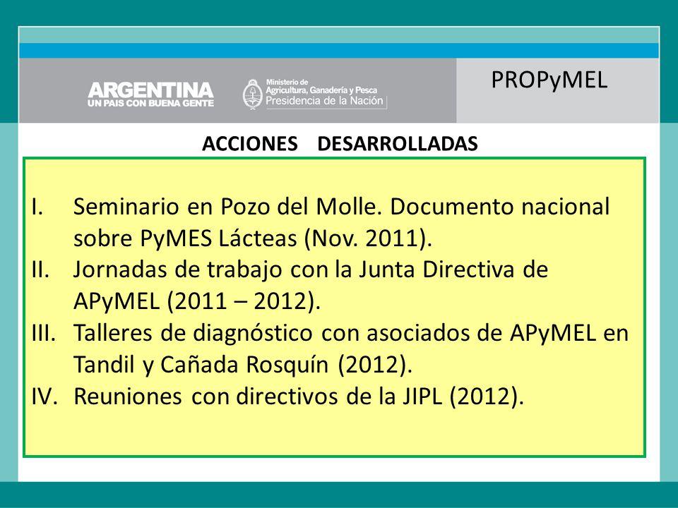 PROPyMEL ACCIONES DESARROLLADAS I.Seminario en Pozo del Molle.