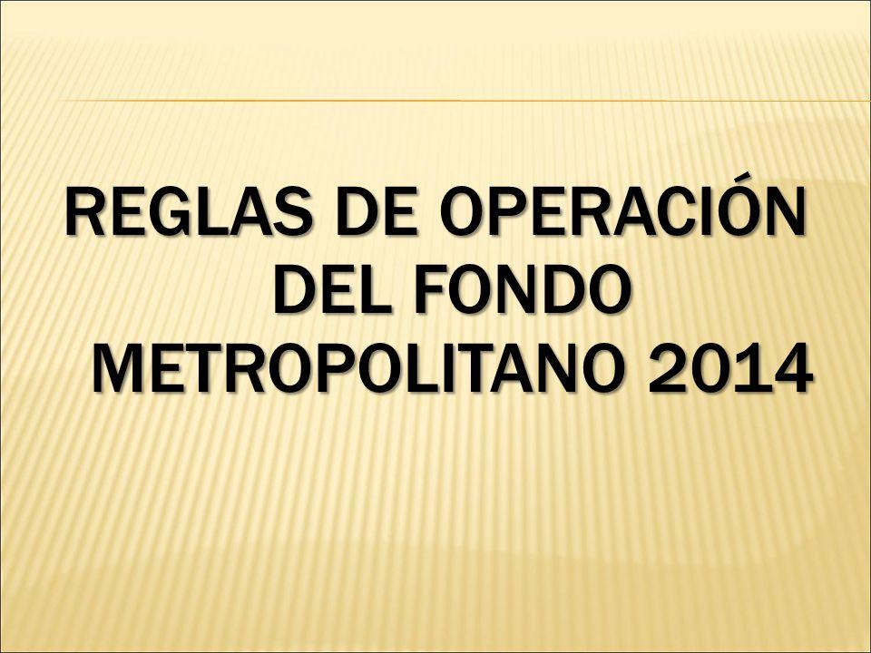 REGLAS DE OPERACIÓN DEL FONDO METROPOLITANO 2014