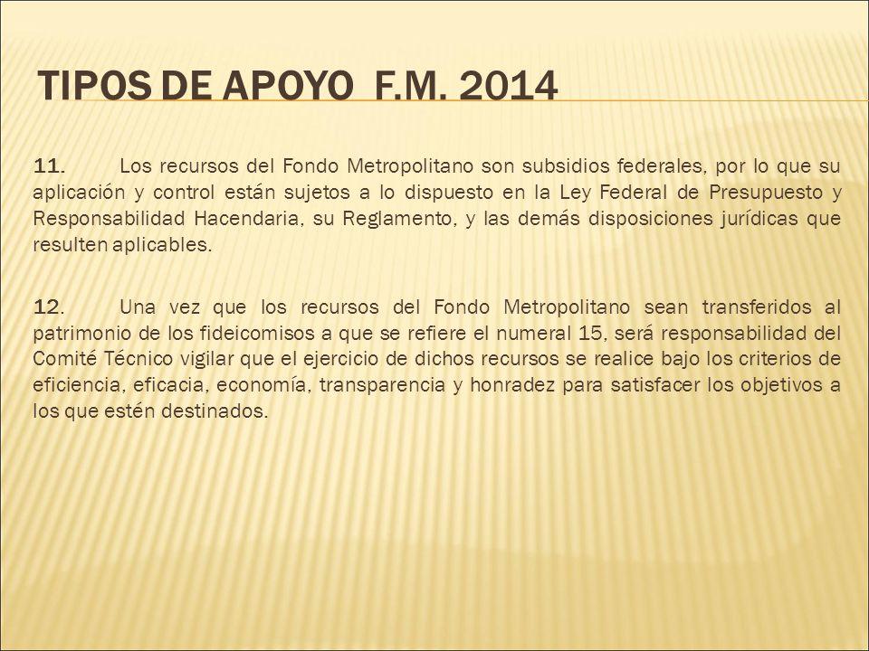 TIPOS DE APOYO F.M. 2014 11.