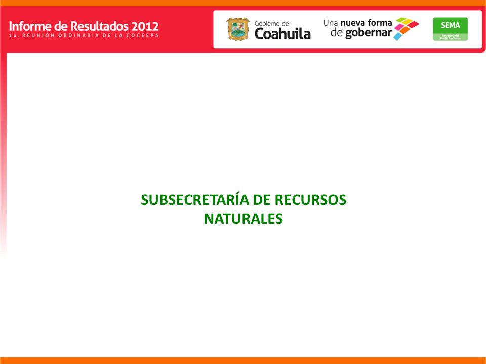 SUBSECRETARÍA DE RECURSOS NATURALES
