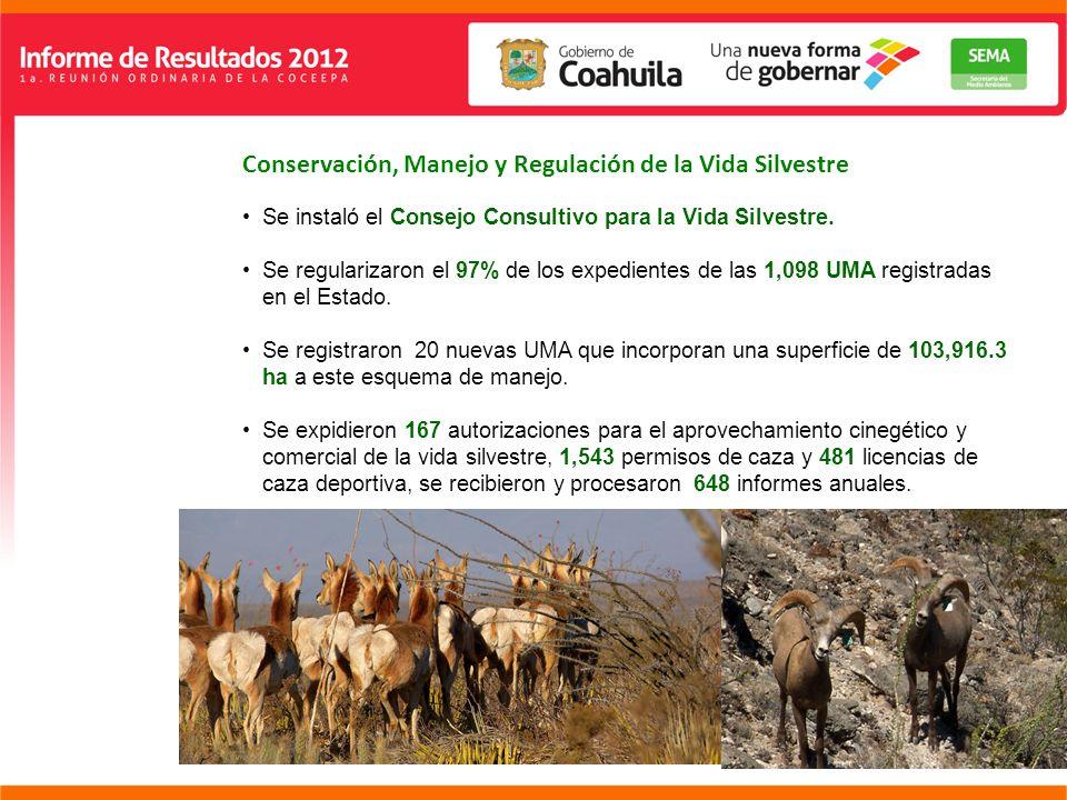 Conservación, Manejo y Regulación de la Vida Silvestre Se instaló el Consejo Consultivo para la Vida Silvestre.