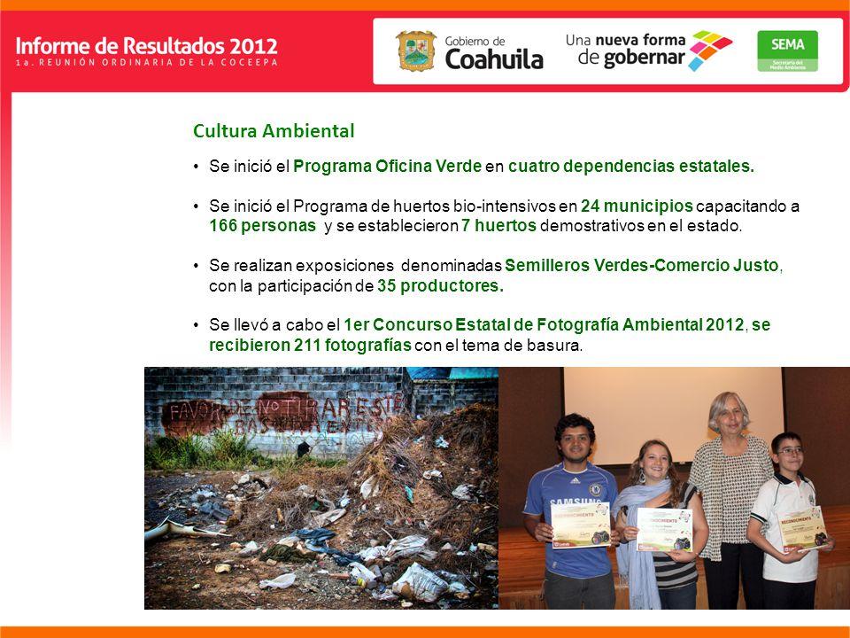 Cultura Ambiental Se inició el Programa Oficina Verde en cuatro dependencias estatales.