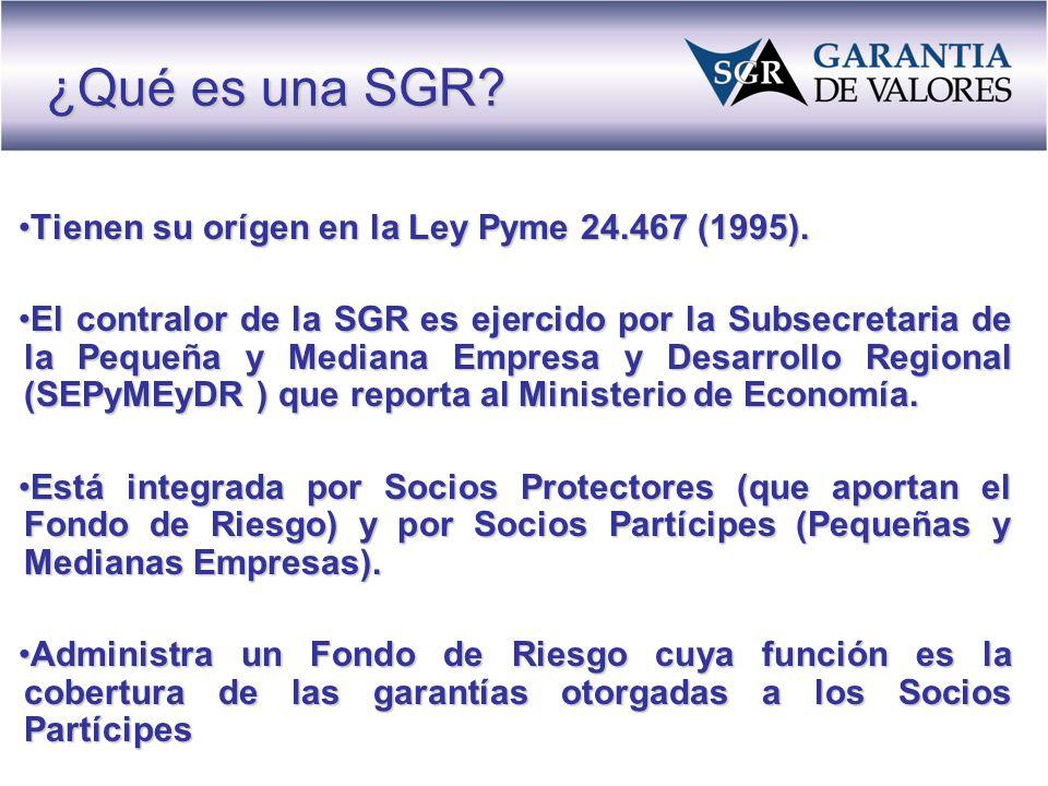 Tienen su orígen en la Ley Pyme 24.467 (1995).Tienen su orígen en la Ley Pyme 24.467 (1995).