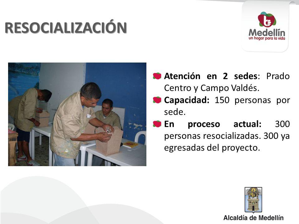 RESOCIALIZACIÓN Atención en 2 sedes: Prado Centro y Campo Valdés.