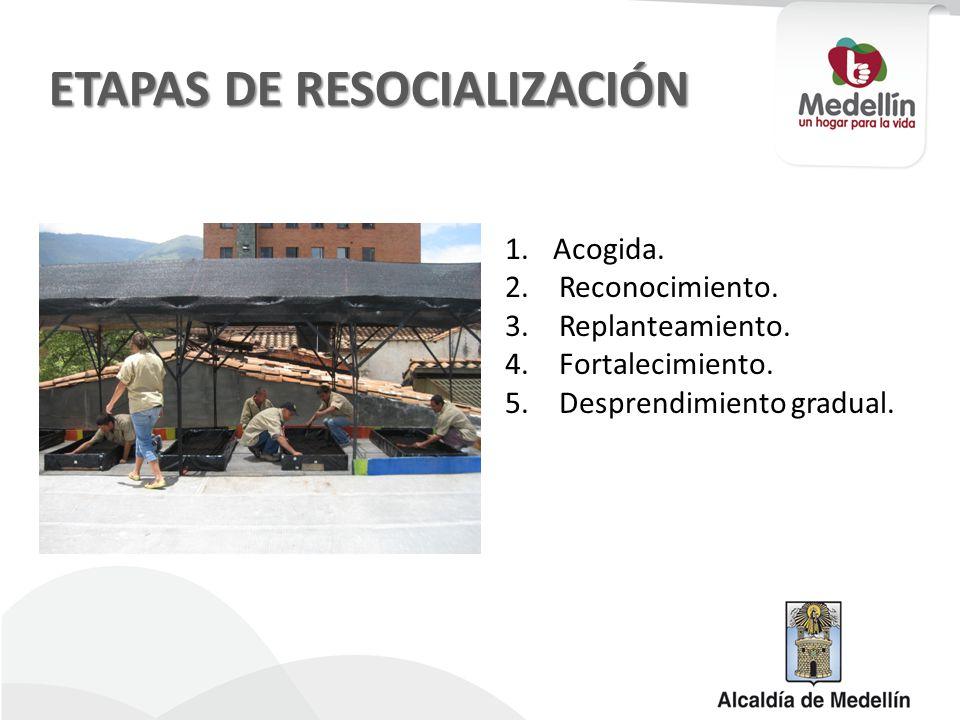 ETAPAS DE RESOCIALIZACIÓN 1.Acogida. 2.Reconocimiento.