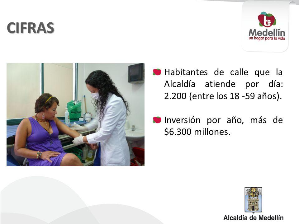 CIFRAS Habitantes de calle que la Alcaldía atiende por día: 2.200 (entre los 18 -59 años).