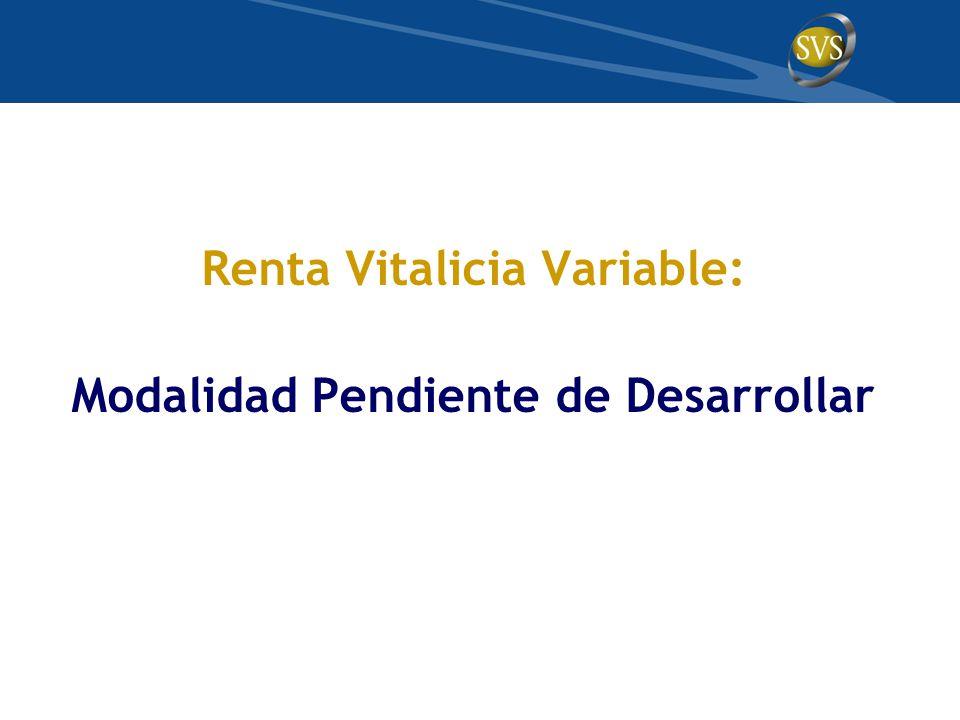 Renta Vitalicia Variable: Modalidad Pendiente de Desarrollar