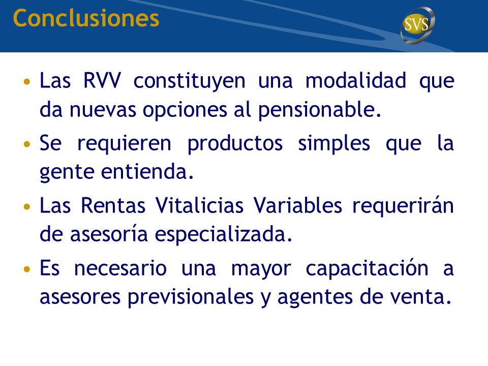 Las RVV constituyen una modalidad que da nuevas opciones al pensionable.