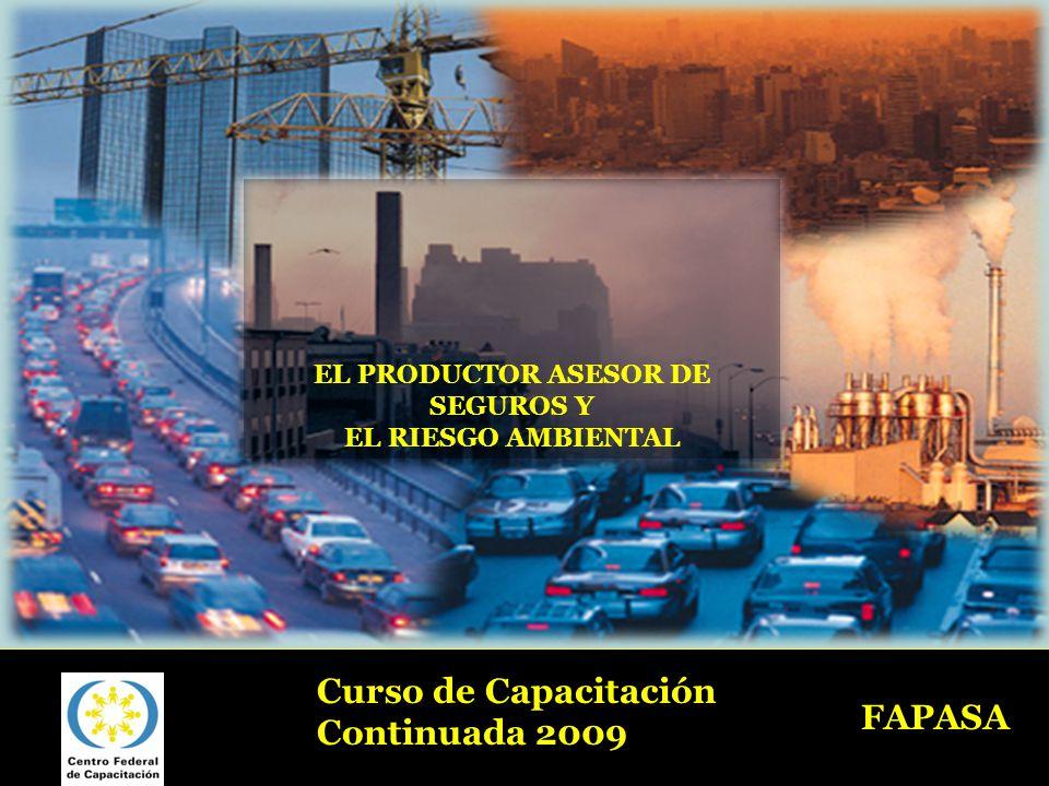 EL PRODUCTOR ASESOR DE SEGUROS Y EL RIESGO AMBIENTAL FAPASA Curso de Capacitación Continuada 2009