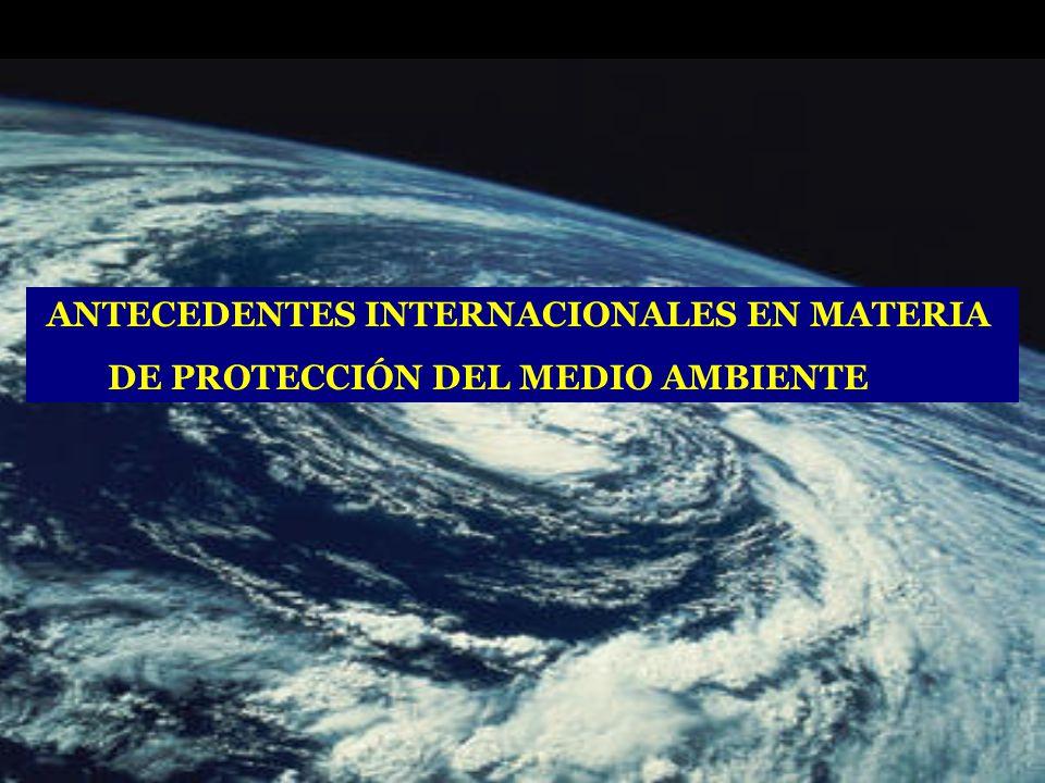 ANTECEDENTES INTERNACIONALES EN MATERIA DE PROTECCIÓN DEL MEDIO AMBIENTE