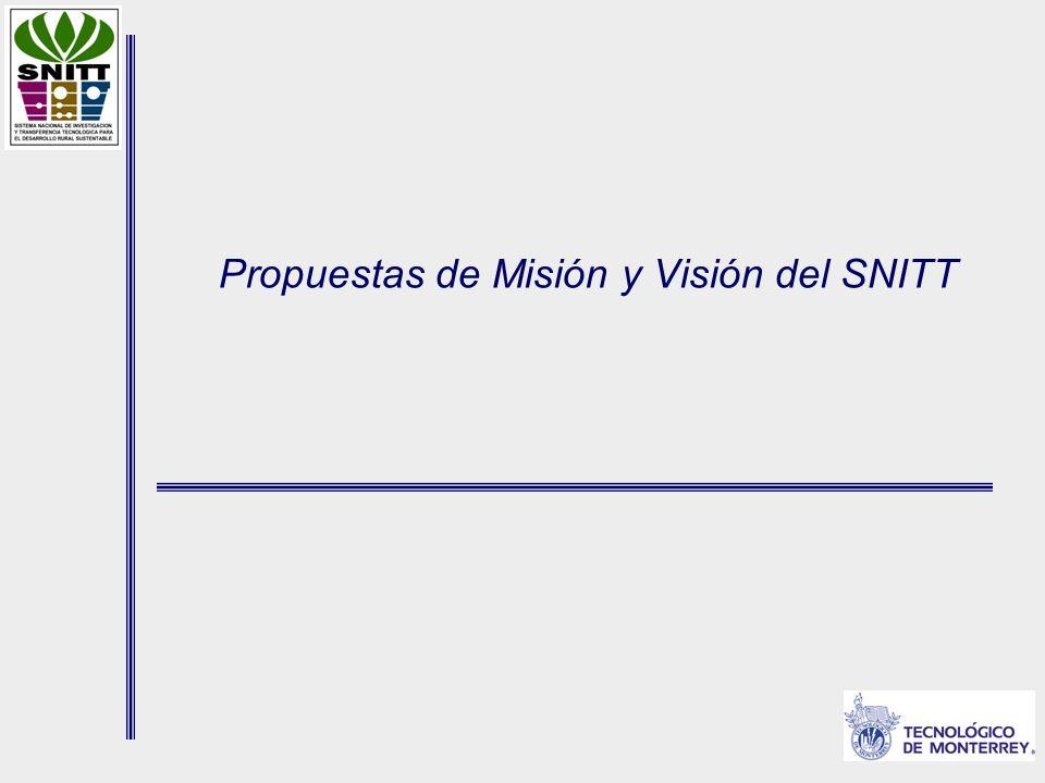 Propuestas de Misión y Visión del SNITT