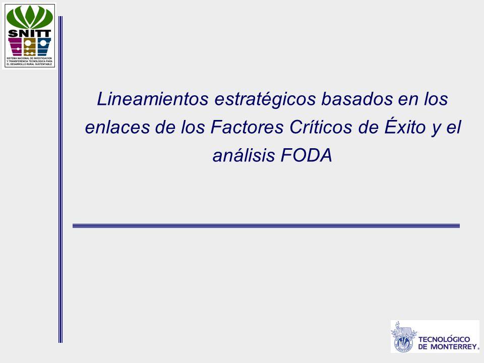 Lineamientos estratégicos basados en los enlaces de los Factores Críticos de Éxito y el análisis FODA