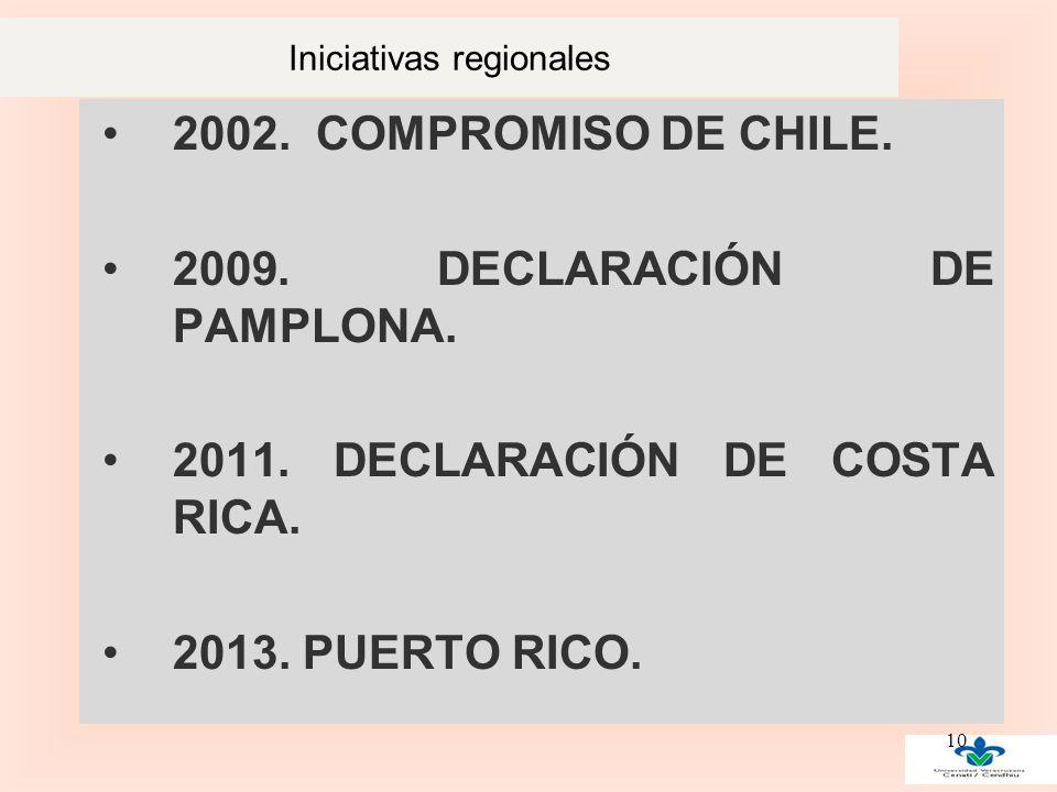 Iniciativas regionales 2002. COMPROMISO DE CHILE.