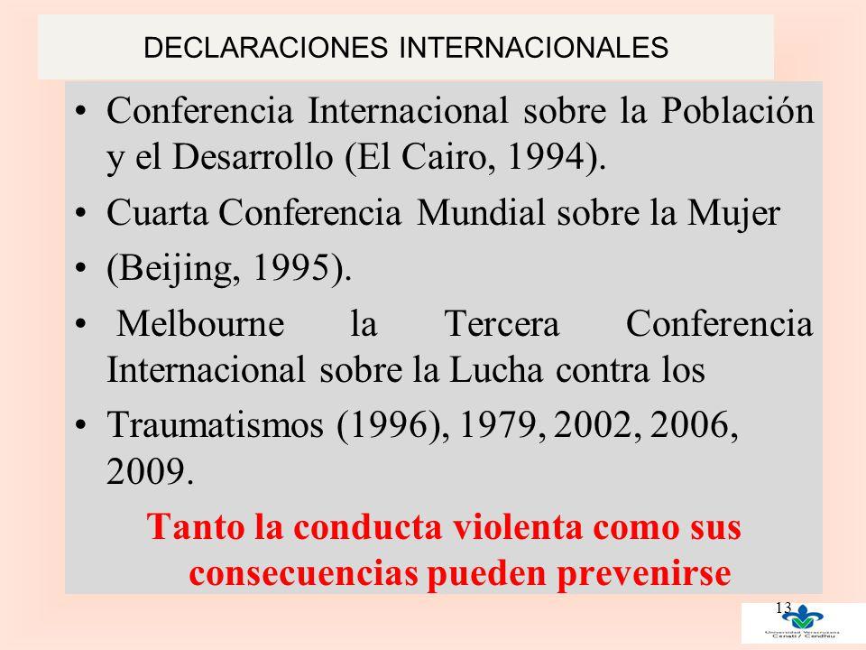 DECLARACIONES INTERNACIONALES Conferencia Internacional sobre la Población y el Desarrollo (El Cairo, 1994).