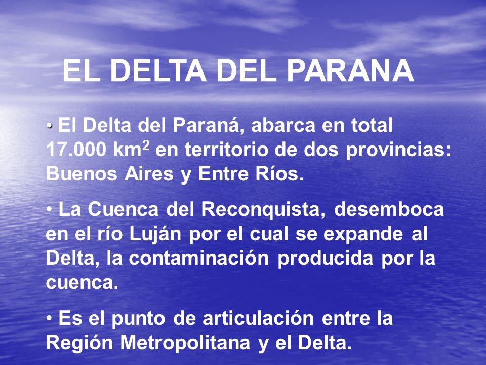 EL DELTA DEL PARANA El Delta del Paraná, abarca en total 17.000 km 2 en territorio de dos provincias: Buenos Aires y Entre Ríos.
