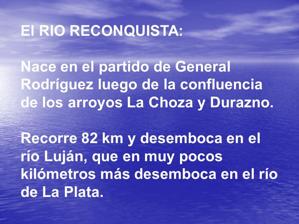 El RIO RECONQUISTA: Nace en el partido de General Rodríguez luego de la confluencia de los arroyos La Choza y Durazno.