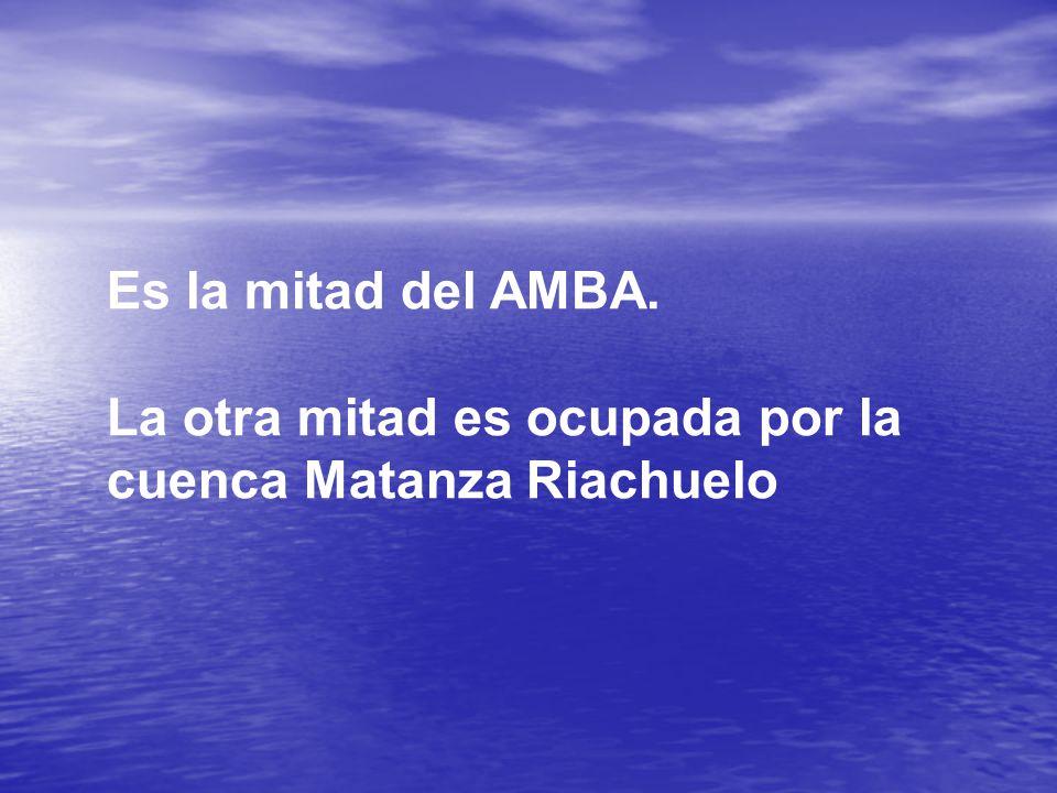 Es la mitad del AMBA. La otra mitad es ocupada por la cuenca Matanza Riachuelo