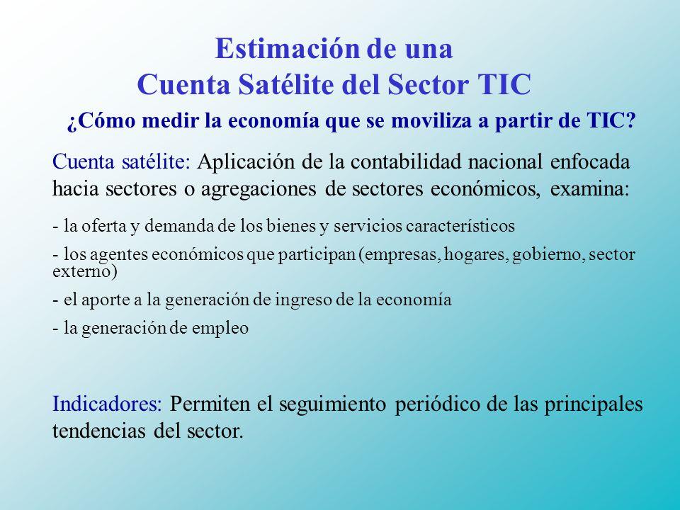 Estimación de una Cuenta Satélite del Sector TIC ¿Cómo medir la economía que se moviliza a partir de TIC.