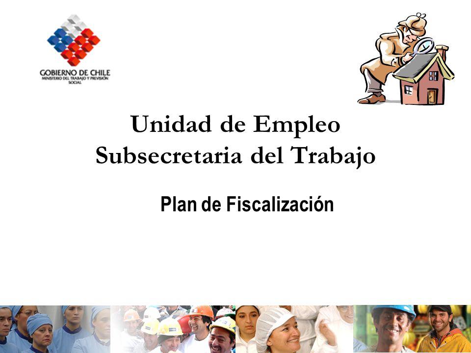 Unidad de Empleo Subsecretaria del Trabajo Plan de Fiscalización