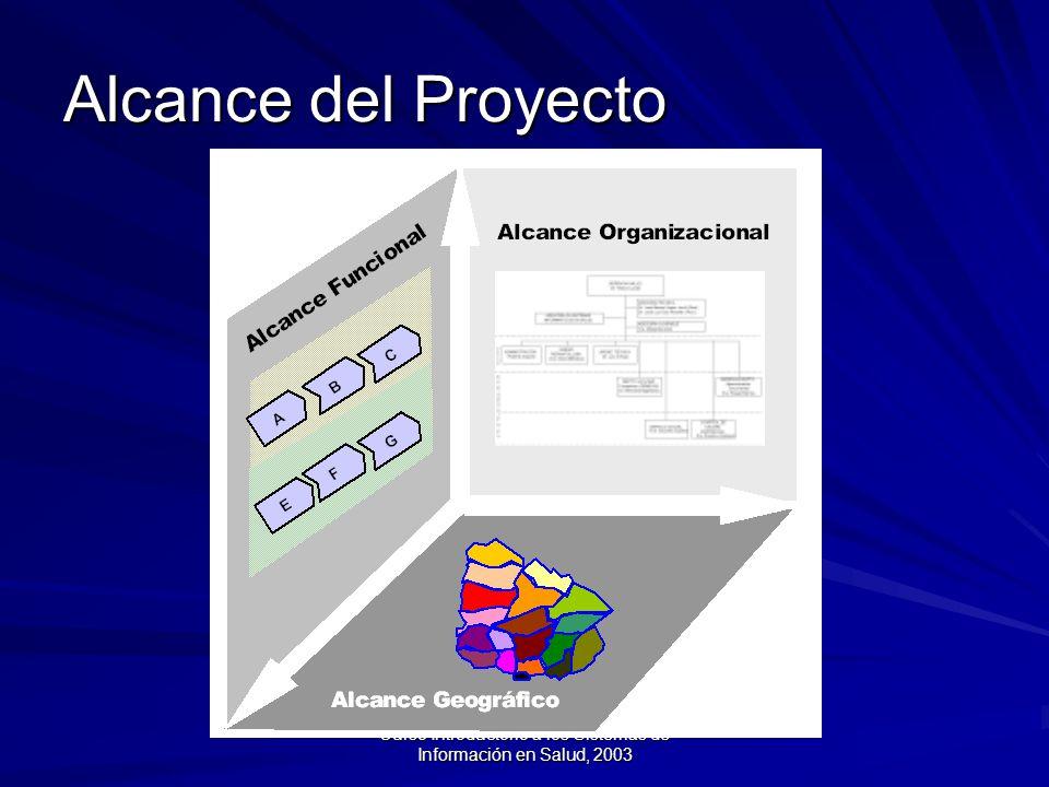 Curso Introductorio a los Sistemas de Información en Salud, 2003 Alcance del Proyecto