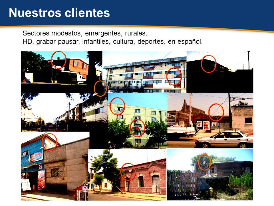 Nuestros clientes Sectores modestos, emergentes, rurales.