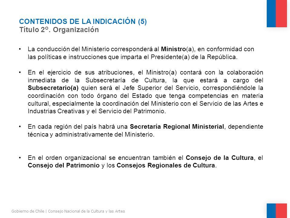 CONTENIDOS DE LA INDICACIÓN (5) Título 2°.