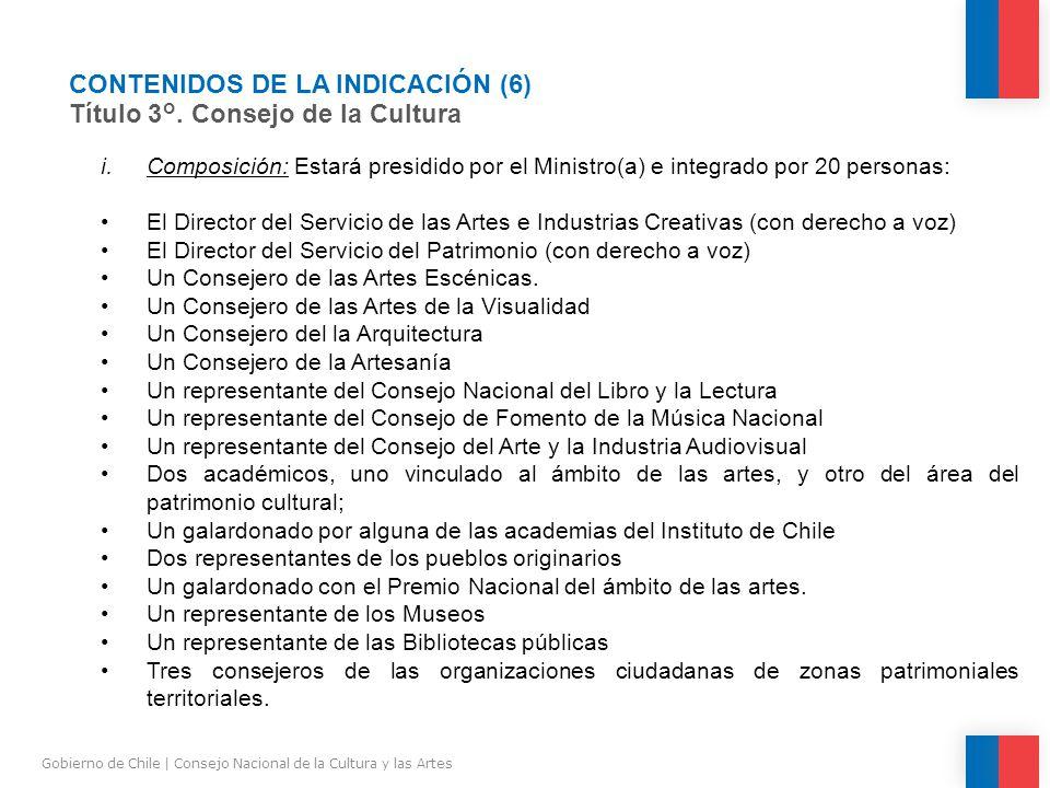 CONTENIDOS DE LA INDICACIÓN (6) Título 3°.