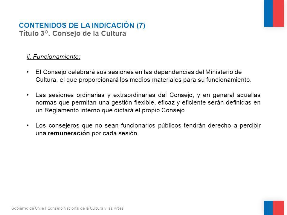 CONTENIDOS DE LA INDICACIÓN (7) Título 3°.