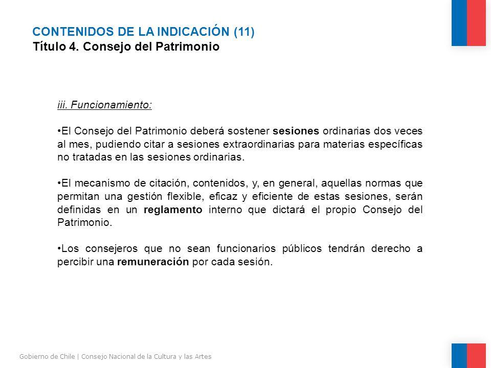 CONTENIDOS DE LA INDICACIÓN (11) Título 4.