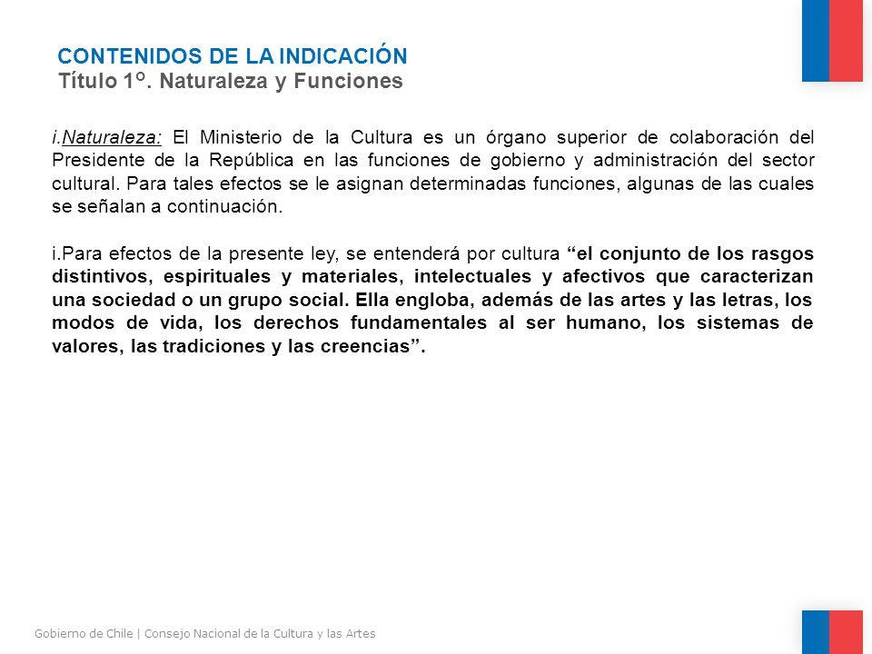 CONTENIDOS DE LA INDICACIÓN Título 1°.