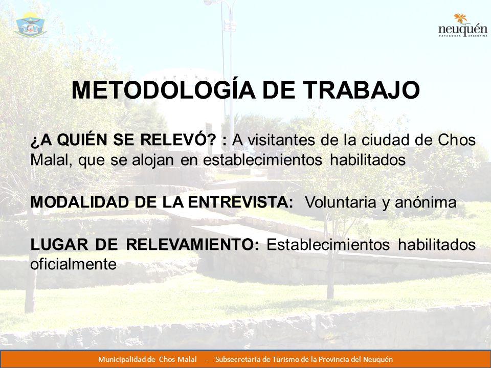 METODOLOGÍA DE TRABAJO ¿A QUIÉN SE RELEVÓ.