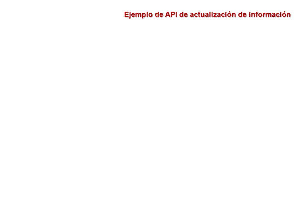 Ejemplo de API de actualización de información
