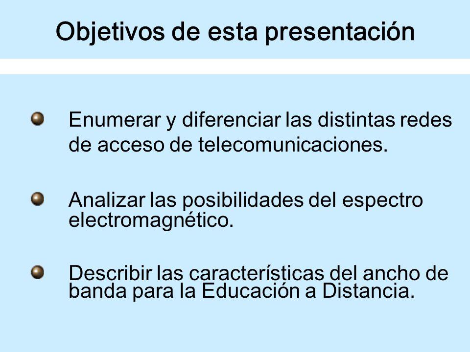 LA RED DE ACCESO DE TELECOMUNICACIONES EN LOS NUEVOS MEDIOS TECNOLÓGICOS PARA LA EDUCACIÓN A DISTANCIA Ing.