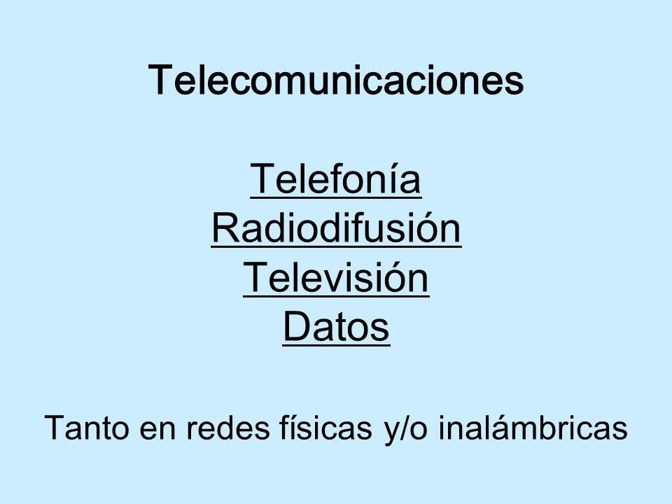 Definición de telecomunicaciones Toda emisión, transmisión y recepción de signos, señales, escritos, imágenes, sonidos o información de cualquier naturaleza, por hilos conductores radioelectricidad, medios ópticos u otro sistemas electromagnéticos .