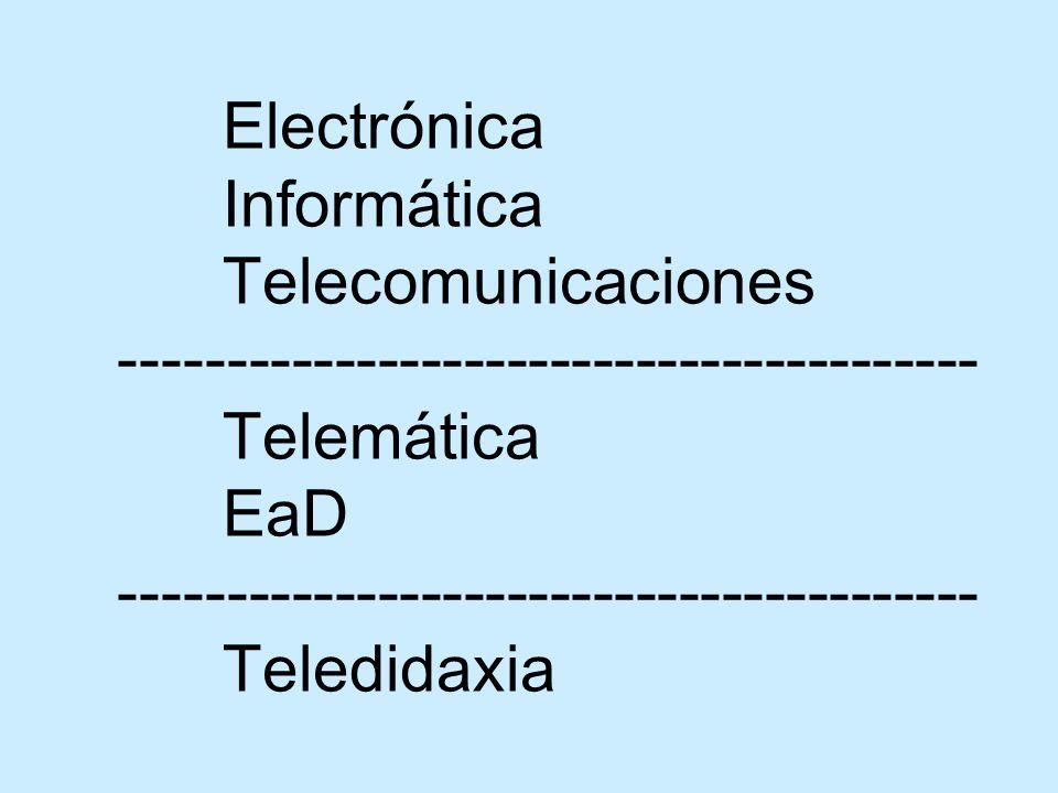 Telecomunicaciones Telefonía Radiodifusión Televisión Datos Tanto en redes físicas y/o inalámbricas
