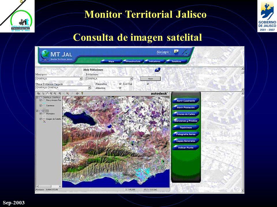 Monitor Territorial Jalisco Sep-2003 Consulta de imagen satelital