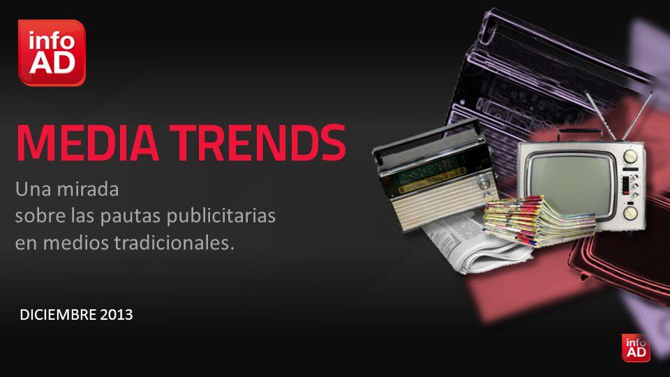 Una mirada sobre las pautas publicitarias en medios tradicionales. DICIEMBRE 2013