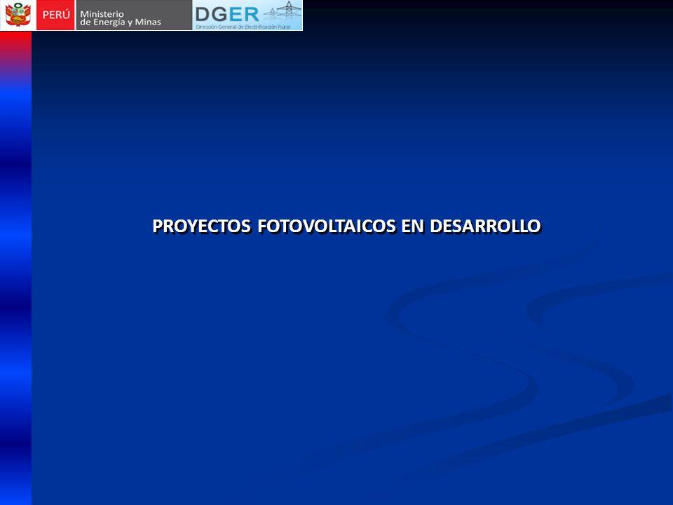 PROYECTOS FOTOVOLTAICOS EN DESARROLLO