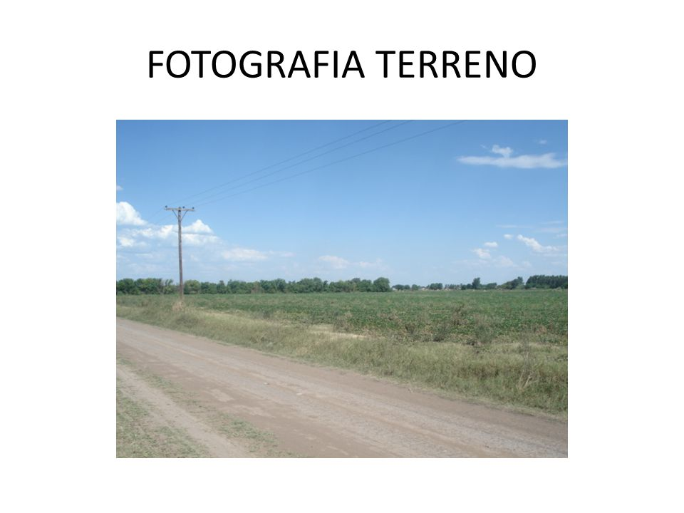 FOTOGRAFIA TERRENO