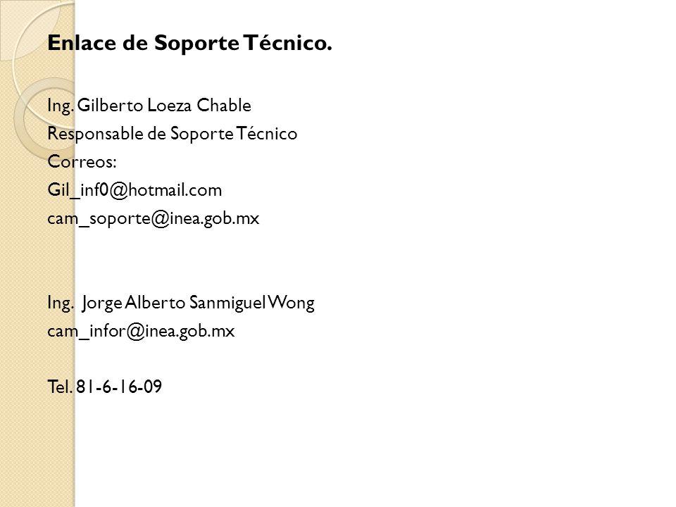 Enlace de Soporte Técnico. Ing.