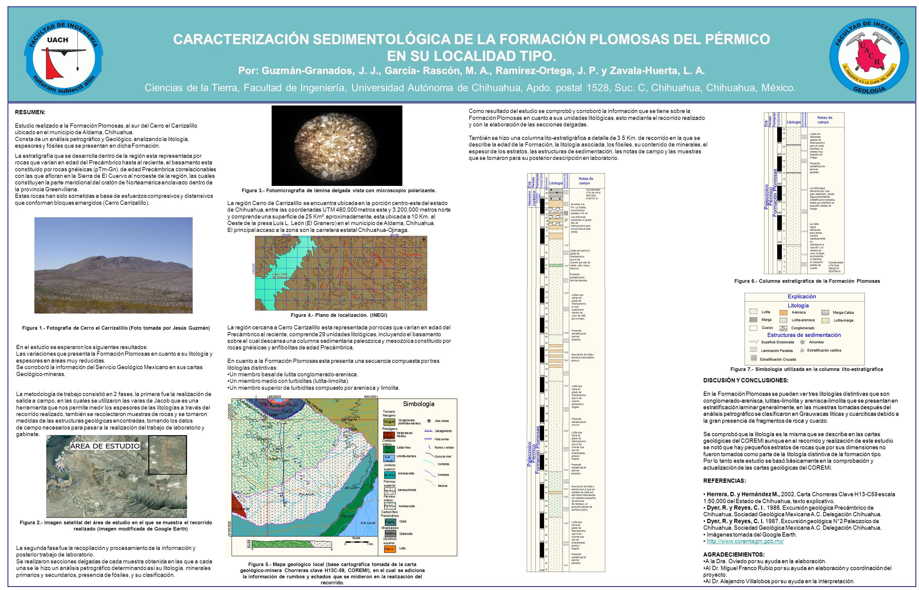 CARACTERIZACIÓN SEDIMENTOLÓGICA DE LA FORMACIÓN PLOMOSAS DEL PÉRMICO EN SU LOCALIDAD TIPO.