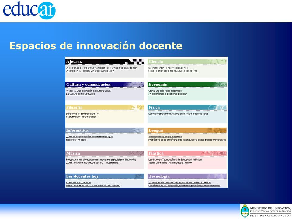 Espacios de innovación docente
