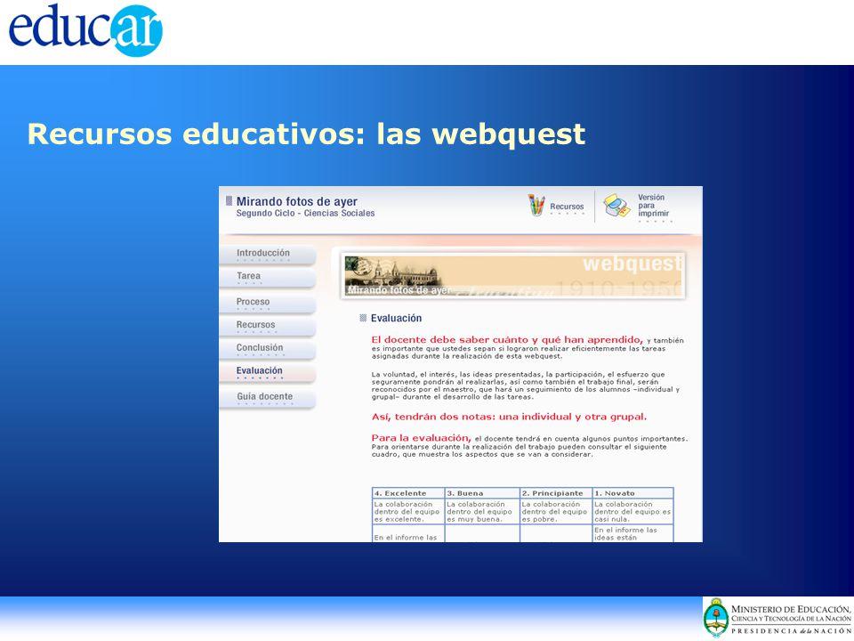 Recursos educativos: las webquest
