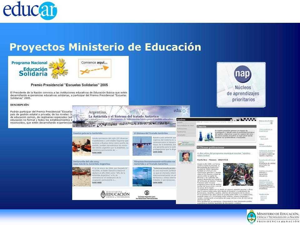 Proyectos Ministerio de Educación