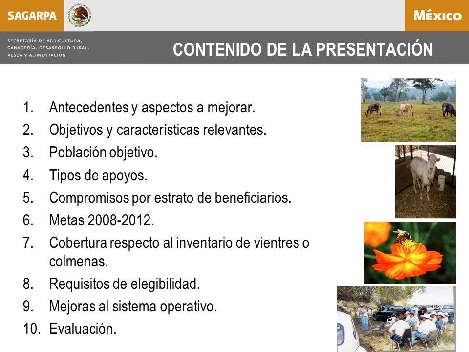 CONTENIDO DE LA PRESENTACIÓN 1.Antecedentes y aspectos a mejorar.