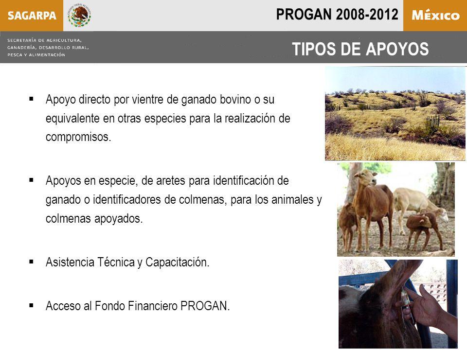  Apoyo directo por vientre de ganado bovino o su equivalente en otras especies para la realización de compromisos.